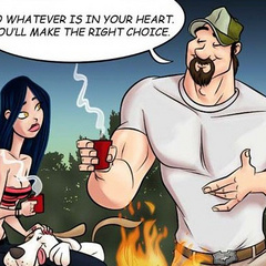 Adult cartoon comic. Girl flirts with her new - Cartoon Porn Pictures - Picture 2