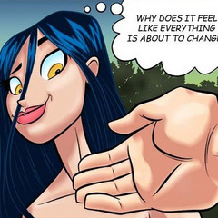 Adult cartoon comic. Girl flirts with her new - Cartoon Porn Pictures - Picture 6
