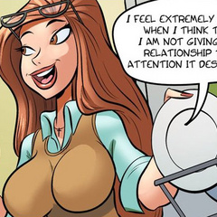 Free comic porn. Housewife seduces her - Cartoon Porn Pictures - Picture 1