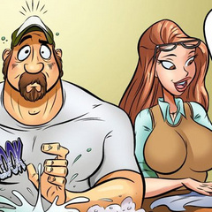 Free comic porn. Housewife seduces her - Cartoon Porn Pictures - Picture 4