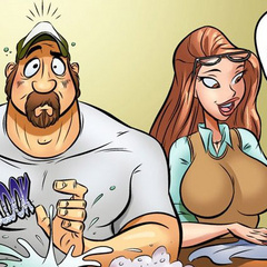 Comics for adults. Maid wants to fuck Big, - Cartoon Porn Pictures - Picture 3