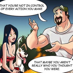 Adult cartoon comic. Babe in search of sexual - Cartoon Porn Pictures - Picture 1