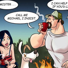 Adult cartoon comic. Babe in search of sexual - Cartoon Porn Pictures - Picture 2