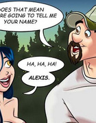 Adult cartoon comic. Babe in search of sexual partners.