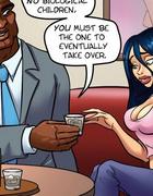 Animation porn. A pretty young secretary flirting…