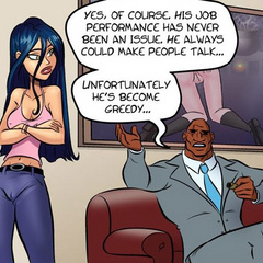 Cartoonsex. Big black dick wants to fuck her - Cartoon Porn Pictures - Picture 2