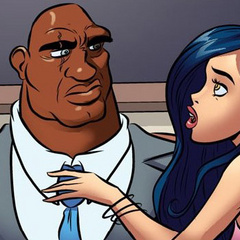 Cartoonsex. Big black dick wants to fuck her - Cartoon Porn Pictures - Picture 6