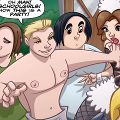 Porn comix. Real man fucks girl in school - Cartoon Porn Pictures - Picture 3