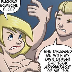 Adult comic cartoons. Two friends fight over a - Cartoon Porn Pictures - Picture 6