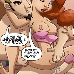 Porn cartoon. Boy gave his girlfriend hard - Cartoon Porn Pictures - Picture 1