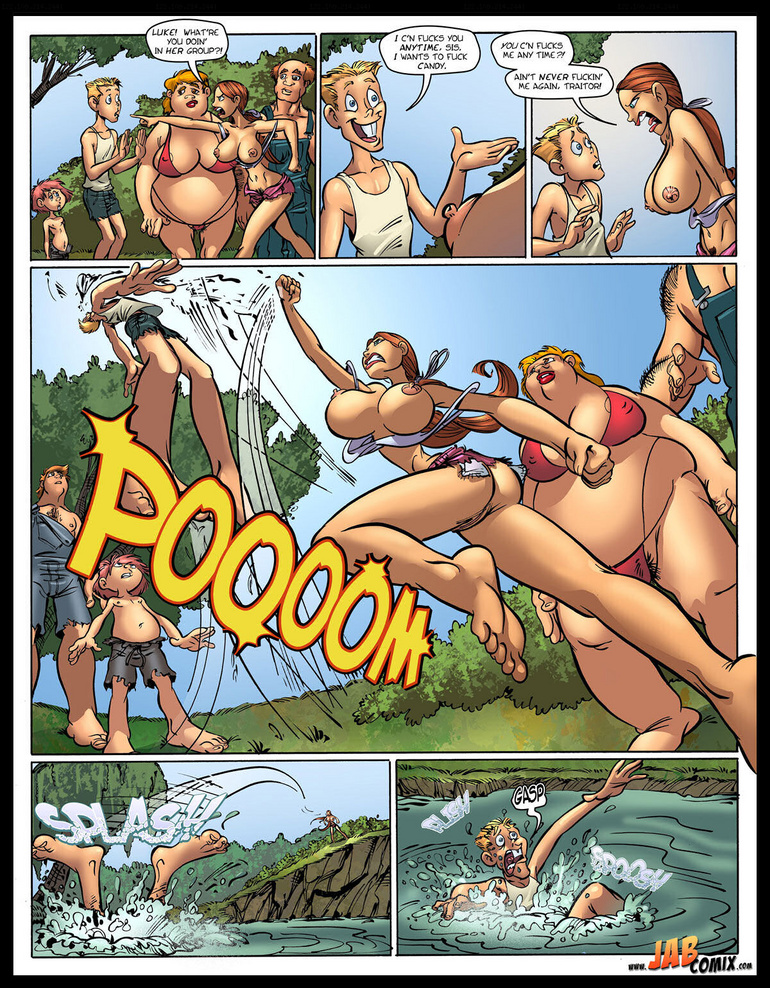 Adult comic pics. Swimming naked - Cartoon Porn Pictures - Picture 1