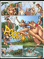 Adult comic pics. Swimming naked busty - Picture 1