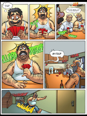 Adult comic art. Older people are sitting - Cartoon Porn Pictures - Picture 1