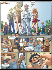 Comics for adults. Housewives who walk in - Cartoon Porn Pictures - Picture 3