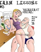 Toon porn comics. Old man takes off her panties from the girls.