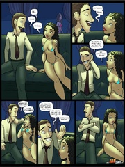 Comic sex. You like my finger right there? Yes - Cartoon Porn Pictures - Picture 1
