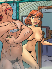 Comic for adults. Sex bomb that wants to fuck - Cartoon Porn Pictures - Picture 5