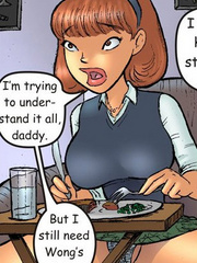 Comics for adults. Redhead Nasty cheek dreams - Cartoon Porn Pictures - Picture 5