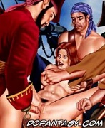 Adult bondage comics. Rough pirates their captive girl!