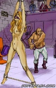 Bdsm cartoons. Countess Tarantula presented her new slaves to her guests!