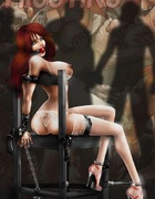 Sex slave comics. Redhead babe captured by three perverts!