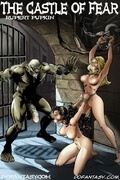 Bdsm art toons. Two captured girls fucked in the dark basements of castle!