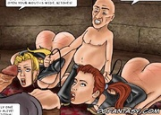 Fetish cartoons. Open your mouth wider, slaves!