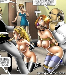 Slave art. Sexy college girls became their techers fuck toys!