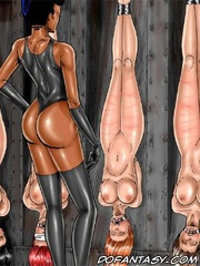 Adult bondage comics. Don't want to fuck your filthy face! Turn around I'm gonna do your craphole!