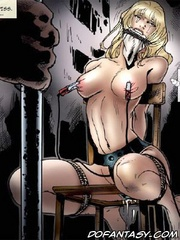 Adult bondage comics. Cruel old pervert captured and humiliated sexiest cheerleader!