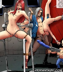 Humiliation comics. Men use captured woman as sex slaves! They hunt them!
