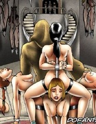 Bdsm art drawings. Stop your crying and start sucking little girl!
