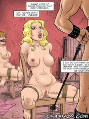 Bondage comics. Just look at those tits and that juicy piss box!