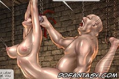 Submission art. Chinese Warlords sex slave gets her tits tortured and legs open wide!