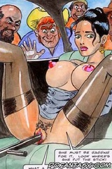 Slave cartoons. Press your tits on the car and get your legs stand apart!
