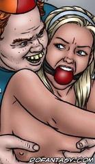Slave girl comics. Mama's retarded boy fuck captured blonde!