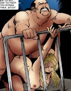 Horror comics. Fat pervert bought a new slave girl…