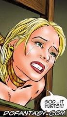 Adult bondage comics. Stalker humiliates blonde naked woman!