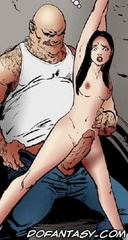 Slave comics. Let's deflorate our virgin slave here right in front of her beloved sister!