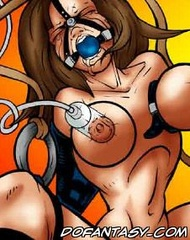 Slave comics. Sexy girl captured and her torturing was broadcastet!