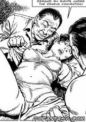Bdsm art toons. Open your thighs wider. Let them all see your american pussy!