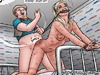 Bdsm cartoons. Blonde slavr girl fucked doggy style and get beaten!