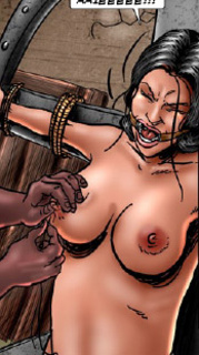 Submission. She suffers a great pain of torturing her nipples!