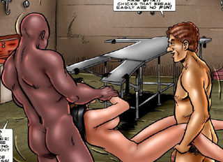 Bdsm comics. Let's introduce the friqid slave to the warthog!