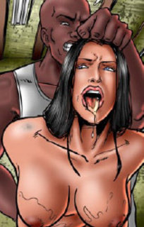 Free bdsm comics. Two perverted guys pee on their captured girl!