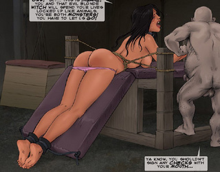 Bdsm cartoons. Ya know, slave, you shouldn't sign any checks with your mouth!
