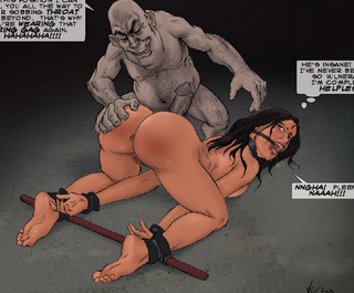 Adult bondage comics. I'm gonna put my cock all the way to your sobbing throat! That's why you're wearing that ring gag!