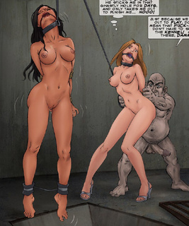 Bondage cartoons. He sticks me in that ghastly hole for days, and only takes me out to punish me!