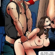 Adult bondage comics. Oh! That fells so good! I'm cumming in her ass!