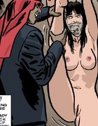 Sex slave comics. Redhead giel gets her nipples and asshole tortured!